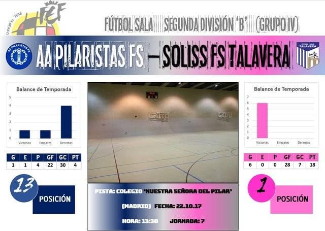 El Soliss FS Talavera busca su séptima victoria consecutiva en Madrid