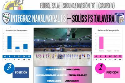 El Soliss FS Talavera afronta un nuevo derbi de altos vuelos ante el Integra2 Navalmoral FS