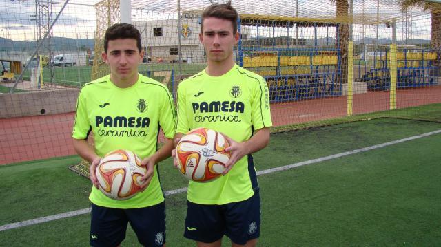De juvenil con José Luis Blanco en el Villarreal CF