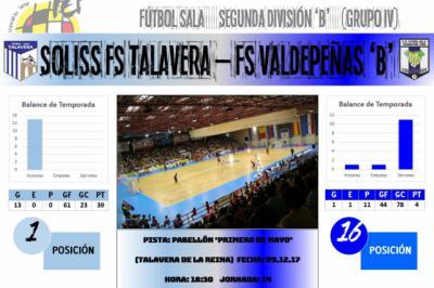 El Soliss FS Talavera vuelve a la liga para medirse de nuevo al FS Valdepeñas