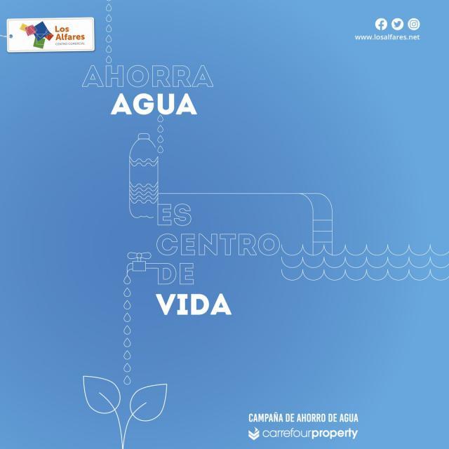 """Los Alfares activa la campaña """"Ahorra agua, es centro de vida"""" promovida por Carrefour Property"""