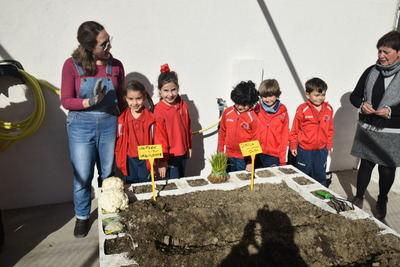 El Colegio Clemente Palencia inaugura su proyecto 'Cultivando vidas' con la colaboración del Colegio Bios