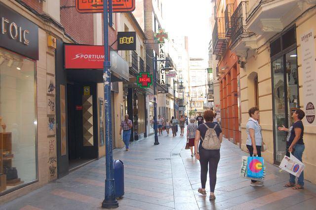 Calle san Francisco, en Talavera de la Reina