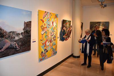 Entrega de premios e inauguración de la exposición del 'Premio Nacional de Pintura y Artes Plásticas'