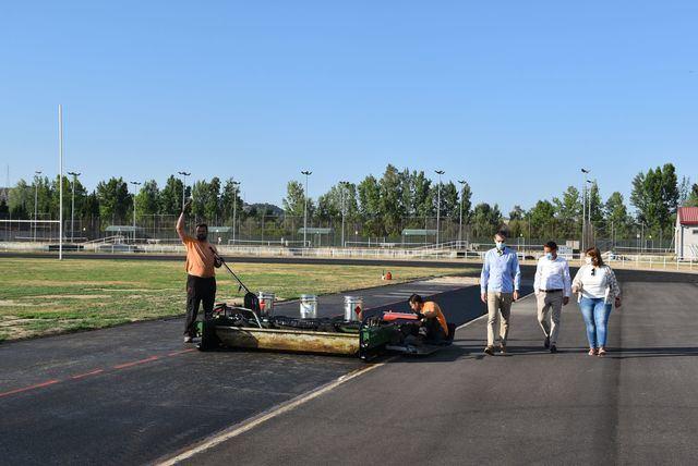 TALAVERA | Se retoman las obras en la pista de atletismo