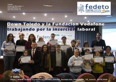 Down Toledo y la Fundación Vodafone España trabajan por la reinserción laboral