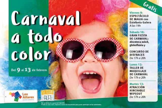 Los Alfares celebra el carnaval con magia, música, talleres, atracciones y un gran concurso infantil de disfraces