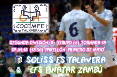La iniciativa 'El Jugador Número Seis' abre 2018 con la visita de COCEMFE Talavera