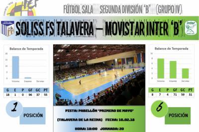El Soliss FS Talavera recibe al siempre incómodo filial de Movistar Ínter
