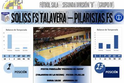 El Soliss FS Talavera quiere acabar con sus males este sábado ante Pilaristas