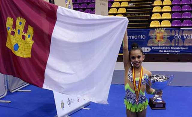 La gimnasta talaverana Ruth de los Reyes se cuelga la medalla de bronce en la Copa de España