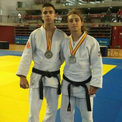 Gorka e Izaskun |El judo talaverano se trae dos platas del nacional júnior