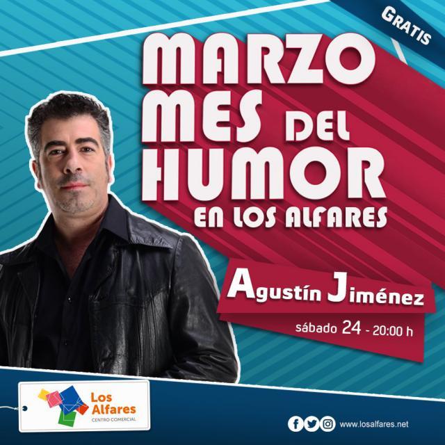 El cómico Agustín Jiménez cierra el ciclo de monólogos de humor de Los Alfares