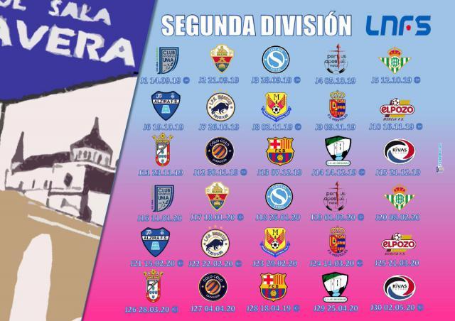 Este es el calendario de competición del Soliss FS Talavera en la LNFS
