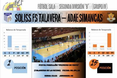 El Soliss FS Talavera busca este viernes seguir dando pasitos para su objetivo final
