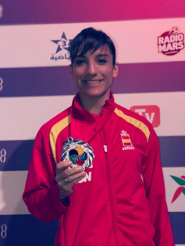 Sandra Sánchez logra la plata en el Premier League de Rabat
