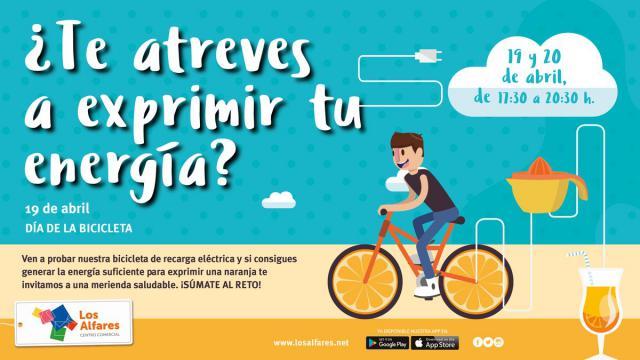 Los Alfares celebra el Día de la Bicicleta aunando ejercicio, ahorro de energía y alimentación saludable