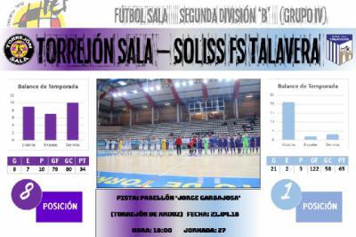 El Soliss FS Talavera encara su recta final con Torrejón de Ardoz como primera parada
