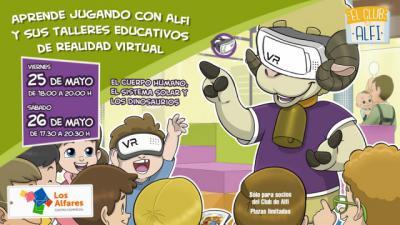 Los Alfares organiza talleres educativos gratuitos de realidad virtual para niños