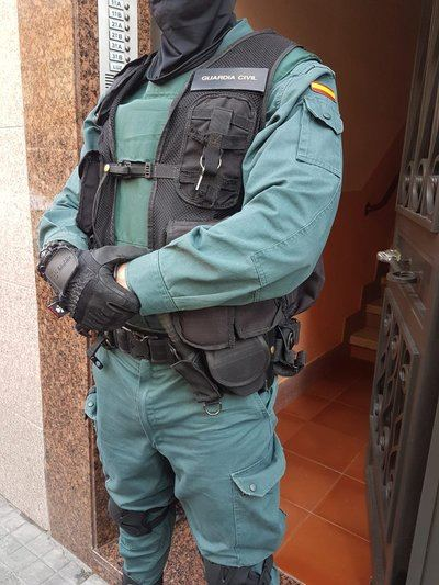Guardia Civil en los registros de Madrid