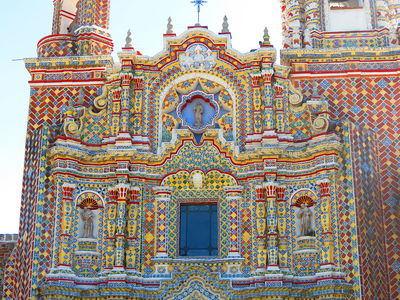 Iglesia de San Francisco Acatepec | Foto: Luis Alvaz