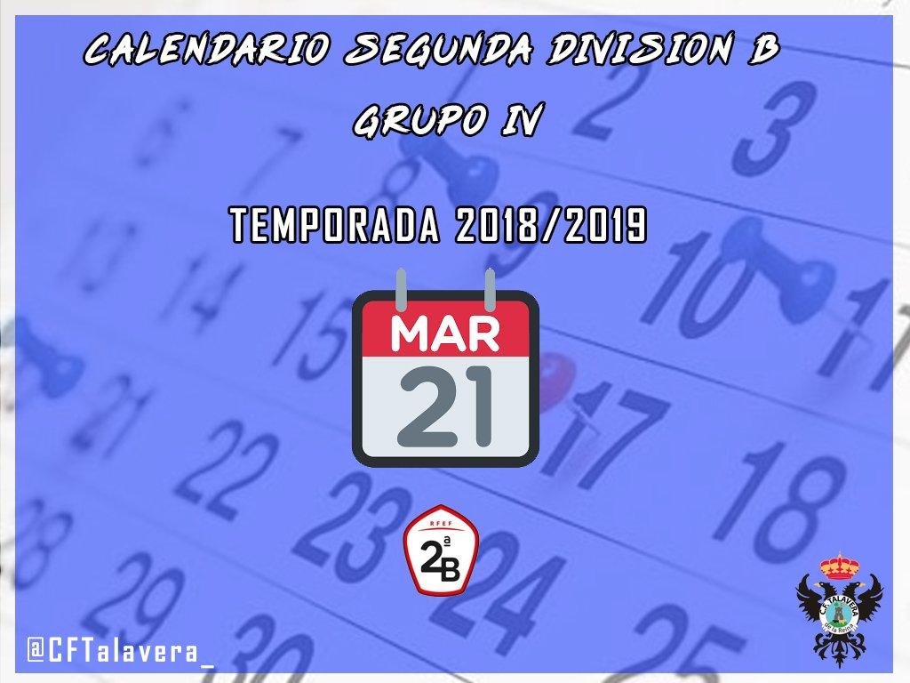 CF TALAVERA | Aquí tienes el calendario 2018-2019 de Segunda ...