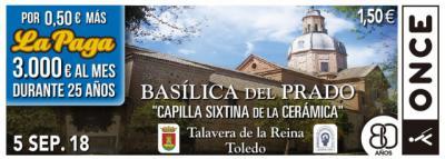 La ONCE dedica el cupón de este miércoles a la 'Capilla Sixtina' talaverana