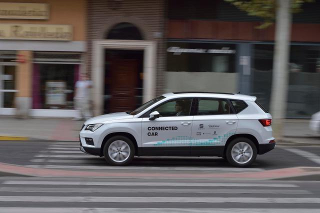 Presentación en Talavera de un coche con asistencia 5G