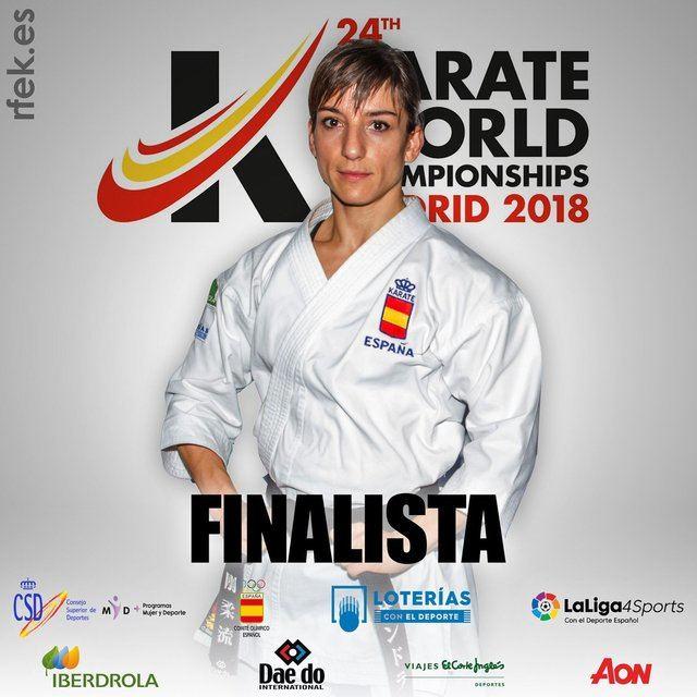Sandra Sánchez, finalista en el Mundial de Kárate de Madrid