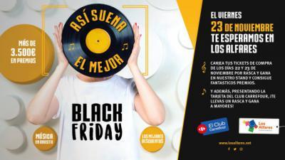Música en vivo, premios directos y grandes descuentos en el Black Friday de Los Alfares