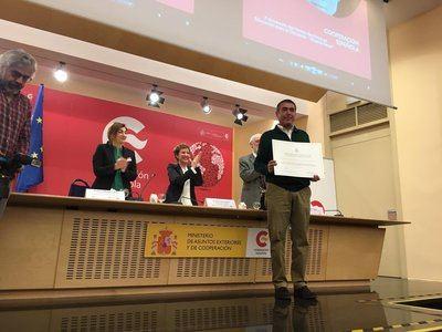 El CEIP San Ildefonso de Talavera recoge el Premio Nacional de Educación para el Desarrollo 'Vicente Ferrer'