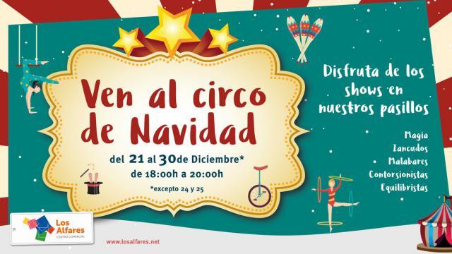 No te pierdas las actividades de magia y circo de Navidad en Los Alfares