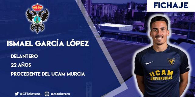 Ismael García, nuevo delantero del CF Talavera, llega del UCAM Murcia