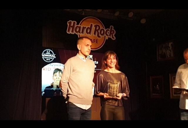 La karateca Sandra Sánchez ya tiene el Premio Admiral, que donará a la ELA