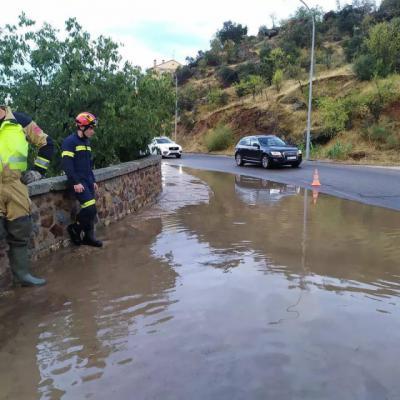 La DANA deja inundaciones en Toledo, calles cortadas, árboles caídos...