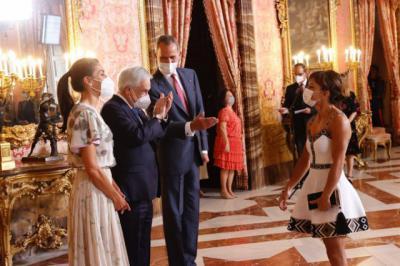 Sandra Sánchez deslumbra también en el Palacio Real