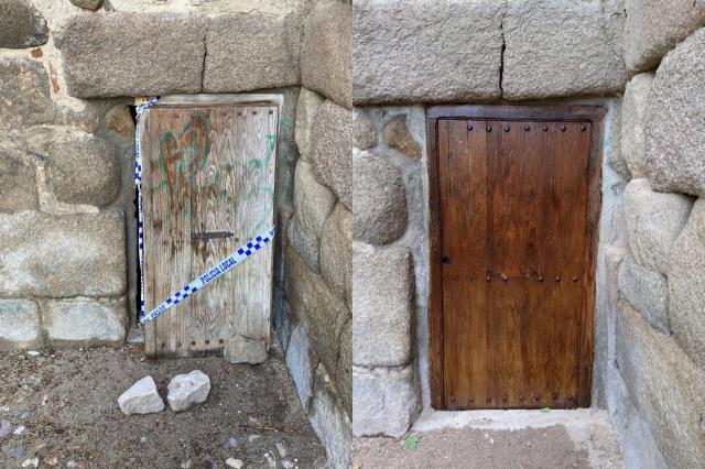 PATRIMONIO | Restauran la puerta de la torre albarrana dañada por unos vándalos