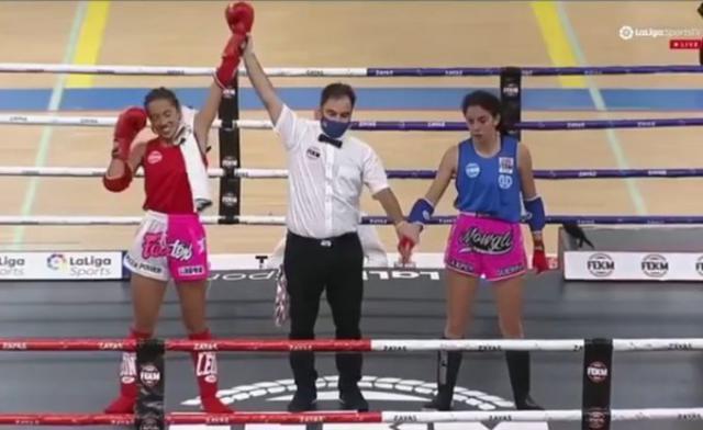 Lara Fernández, de Cebolla, campeona de España de Muay Thai
