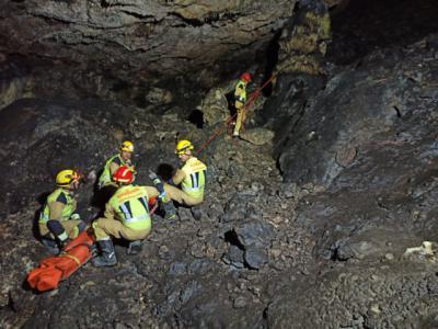 Imagen del rescate | Foto: Bomberos Provincia de Cuenca