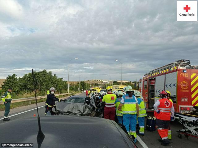 Imagen del accidente   Cruz Roja