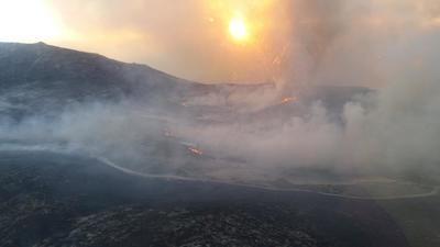 No se están pidiendo voluntarios en el incendio de Navalacruz