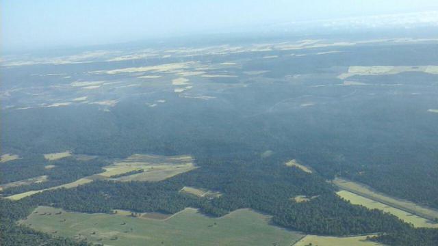 Imágenes aéreas del incendio