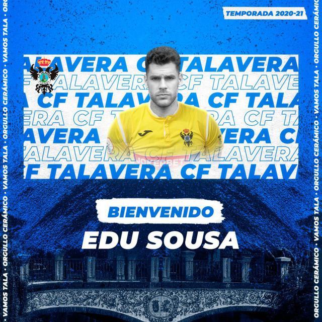 FÚTBOL   Edu Sousa, portero para el CF Talavera