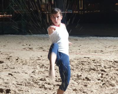Sandra Sánchez compite en Doha en los Juegos Mundiales de Playa