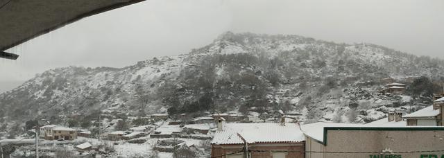 IMÁGENES Y VÍDEOS | Así disfrutaron ayer de la nieve en Cazalegas y el Real de San Vicente