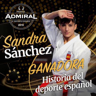 Sandra Sánchez gana el Admiral de Historia del Deporte y donará el importe a una acción social