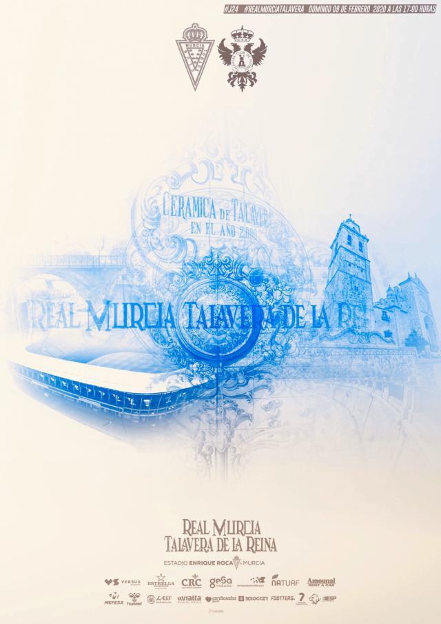 El cartel del Real Murcia-CF Talavera