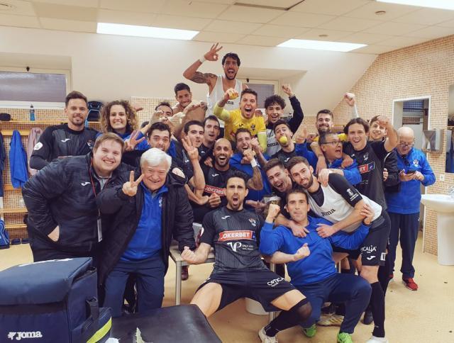 Alegría tras la victoria en Murcia.
