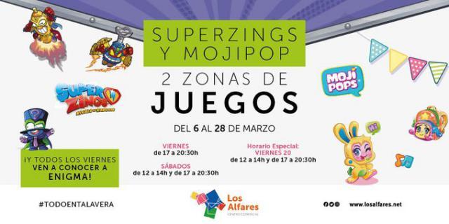 Superzings y Mojipops llegan a Los Alfares