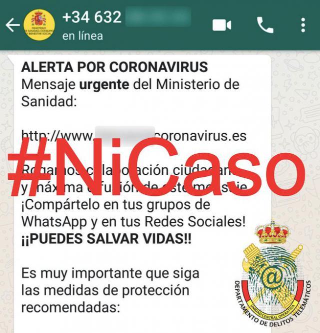 ATENCIÓN | Alertan de un bulo sobre el coronavirus y Sanidad